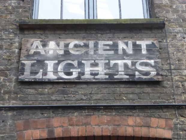 Ancient lights sign.