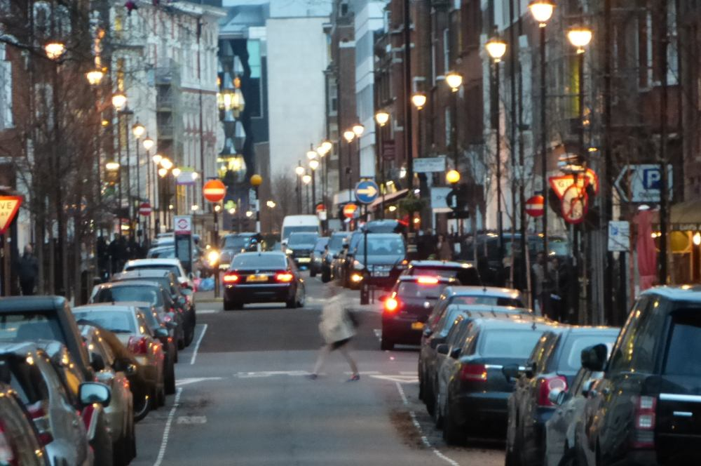 Evening view of Great Titchfield Street.