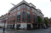 Corner of modern building.