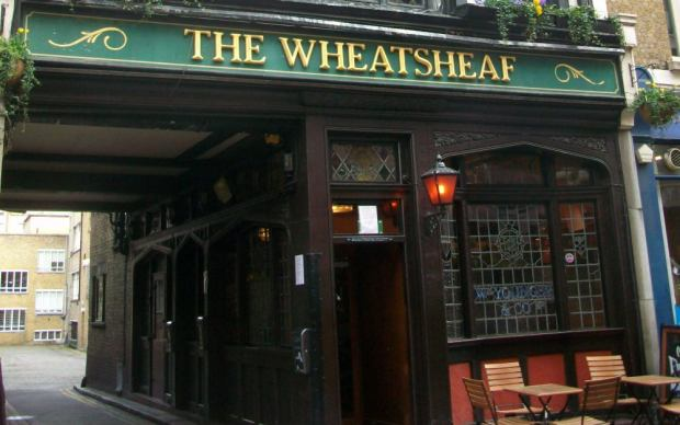 Front of Wheatsheaf public house.