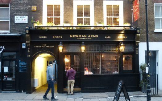 Front of historic pub.