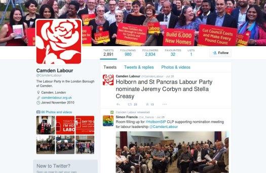 Camden Labour Twitter.