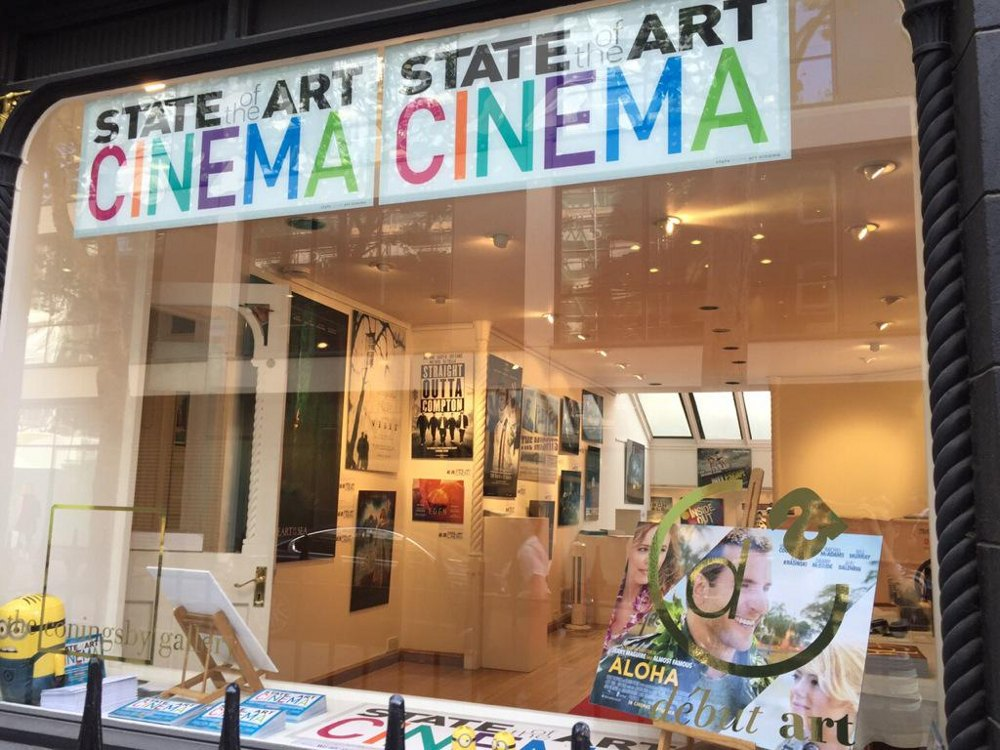 Window of art gallery.