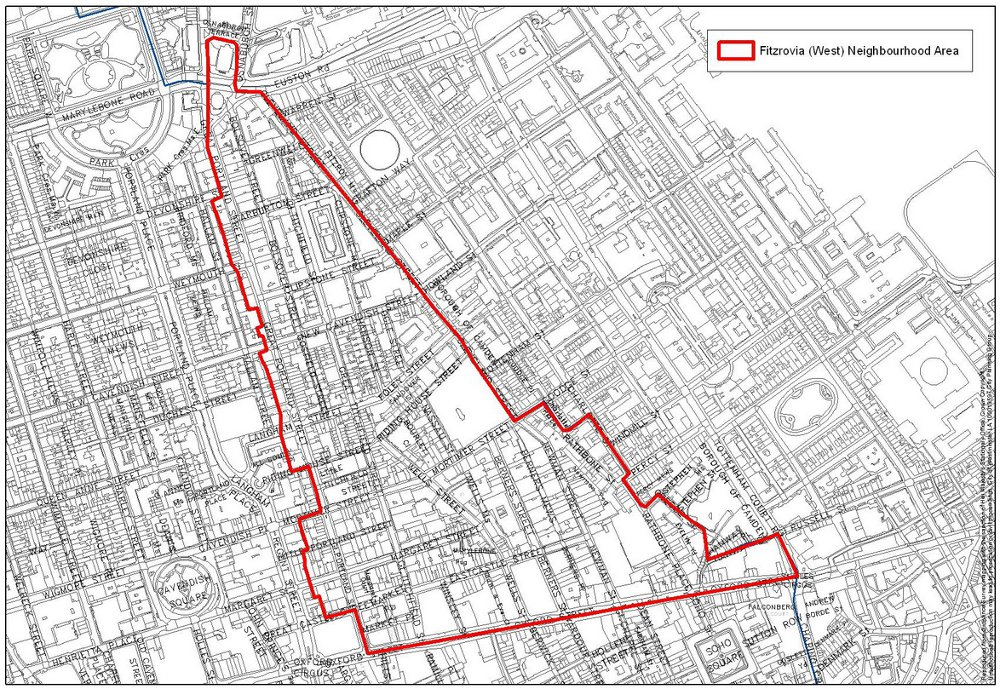 Map of Fitzrovia West.