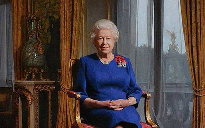 Painting of Queen Elizabeth II.