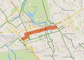 Map of cycling route.