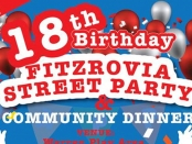 Fitzrovia street party poster.