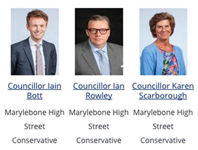 Marylebone High Street ward Councillors.