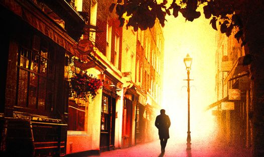 Cover of book featuring Fitzrovia street.