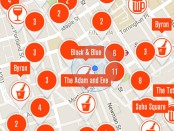 Screenshot of Crowdit app showing map of Fitzrovia.
