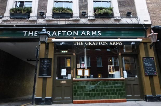 Front of Grafton Arms public house.