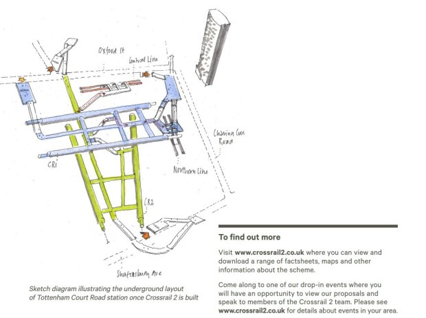 Artists illustration of Crossrail 2 station.
