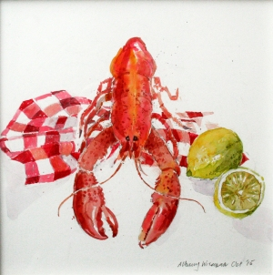 Lobster watercolour.