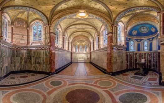 Inside of Middlesex Hospital Chapel.