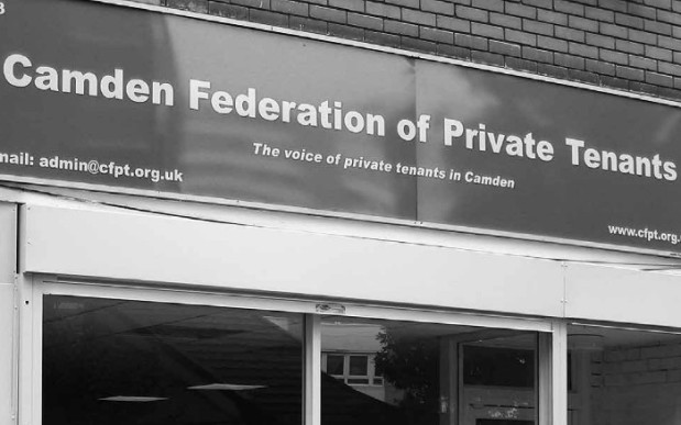 Front of Camden Federation of Private Tenants offices.