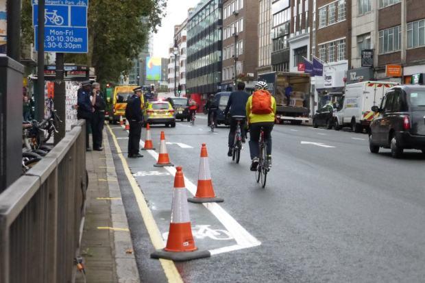 Police and ambulances.