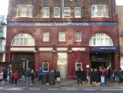 Front of tube station.