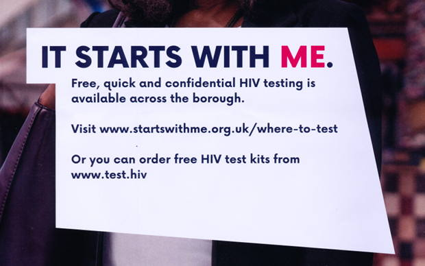 Part of HIV testing awareness poster.