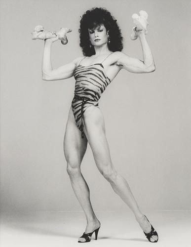 Female body builder.