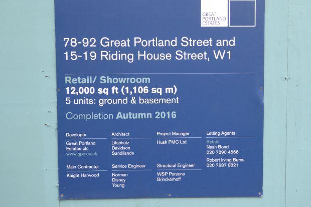 Construction site notice.