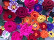 Crochet and knitted yarns.
