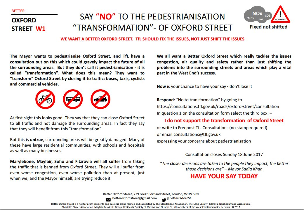 Better Oxford Street leaflet.