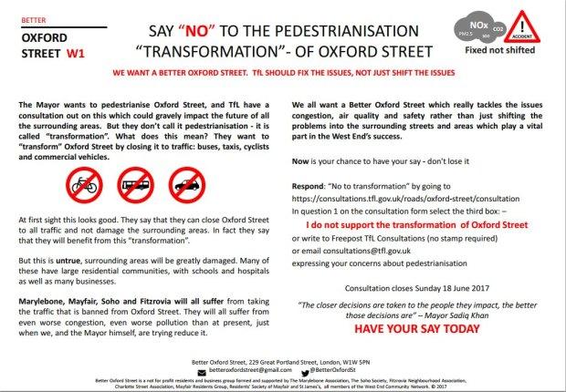 Better Oxford Street leaflet.