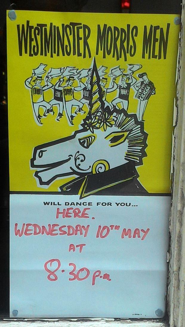 Poster display.