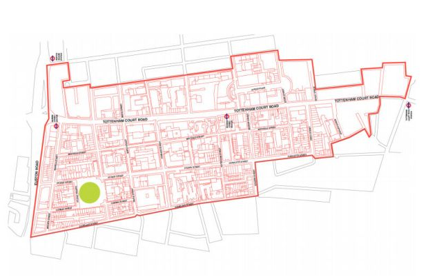 Fitzrovia BID map 2017-2022.