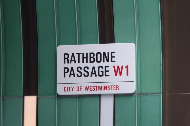 Rathbone Passage sign.