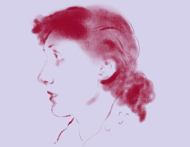 Illustration of Virginia Woolf.
