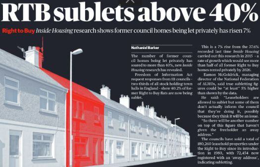 Front cover of Inside Housing magazine.