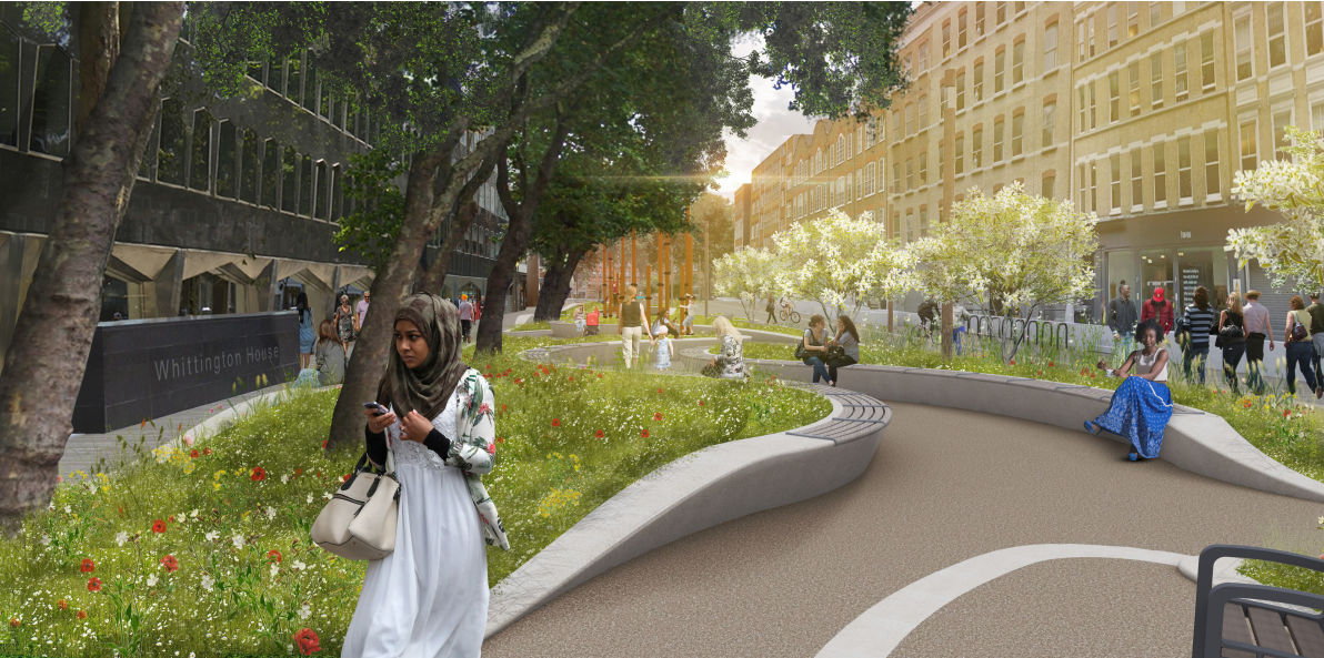 Glossy image of proposed park.