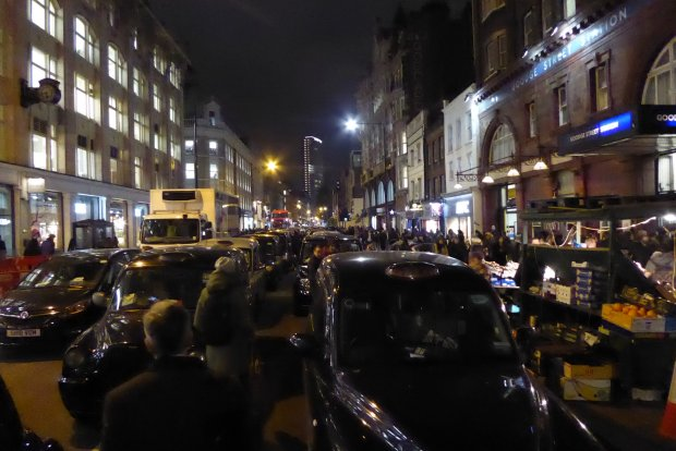 Taxi blockade.
