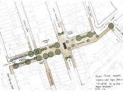 Map of street improvements.