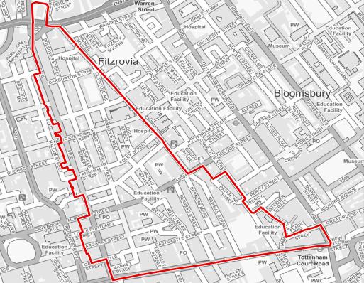 Fitzrovia West Neighbourhood Area.