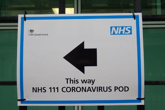 Coronavirus pod sign.