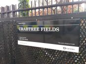 Crabtree Fields sign.