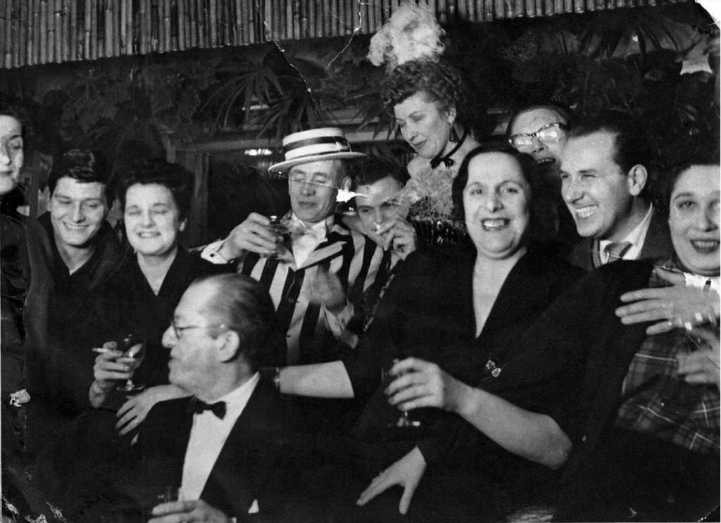 People in private members club.